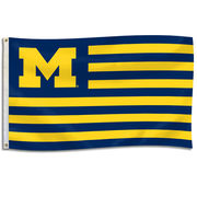 UBF University of Michigan Striped 3 x 5 Spirit Flag