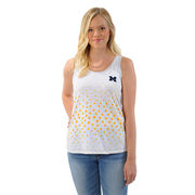 UG Apparel University of Michigan Ladies White Polka Dot Slub Tank Top