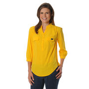 UG Apparel University of Michigan Ladies Yellow Button Down Tunic