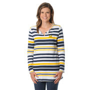 UG Apparel University of Michigan Ladies Striped French Terry Tunic