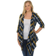 UG Apparel University of Michigan Plaid Cardigan Wrap