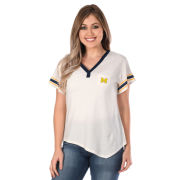 UG Apparel University of Michigan Women's White Jersey V-Neck Pocket Tee