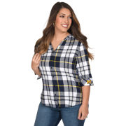 UG Apparel University of Michigan Women's Plaid Button Down Tunic