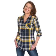 UG Apparel University of Michigan Women's Boyfriend Plaid Shirt