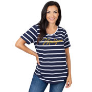 UG Apparel University of Michigan Women's Navy/White Striped Tee