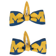 Sports Bows University of Michigan 2 Pack Bow Hair Clippies