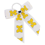 USA Bows University of Michigan Cheer Ponytail Holder
