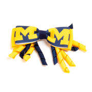 USA Sport Bows University of Michigan Navy/Yellow Block ''M'' Spyro Clip Bow