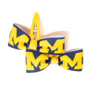 USA Sport Bows University of Michigan Navy/Yellow Block ''M'' Hair Clippies