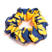 USA Sport Bows University of Michigan Navy/Yellow Block ''M'' Scrunchy Pony Tail Holder