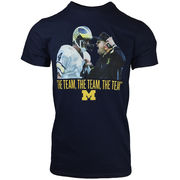 Valiant University of Michigan Football Bo & Harbaugh The Team Navy Tee