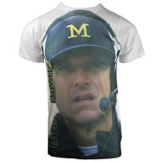 Valiant University of Michigan Football Coach Harbaugh Sublimated Tee