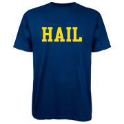 Valiant University of Michigan Navy ''HAIL'' Tee