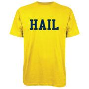 Valiant University of Michigan Yellow ''HAIL'' Tee