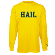 Valiant University of Michigan Yellow ''HAIL'' Long Sleeve Tee