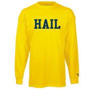 Valiant University of Michigan Yellow ''HAIL'' Long Sleeve Tee