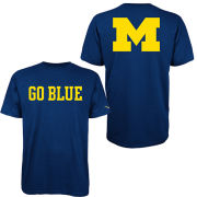 Valiant University of Michigan Navy ''Go Blue'' Tee