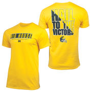 Valiant University of Michigan Football Yellow ''Big House/ HTTV'' Tee