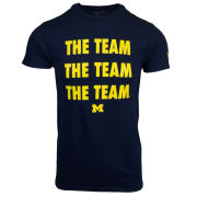 Valiant University of Michigan ''The Team, The Team, The Team'' Navy Tee