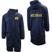 Valiant University of Michigan Navy Long Swimmers Full Zip Hooded Parka