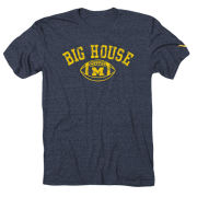 Valiant University of Michigan Football Heather Navy ''Big House'' Tee