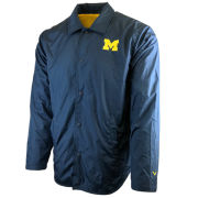 Valiant University of Michigan Navy Coaches Button Up Nylon Jacket
