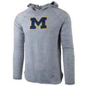 Valiant x Elbowgrease University of Michigan Heather Gray Long Sleeve Hooded Tee