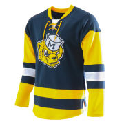 Valiant University of Michigan Hockey Navy College Vault Wolverine Lace-Up Jersey