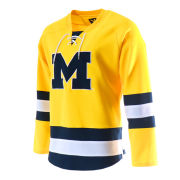 Valiant University of Michigan Hockey Yellow Lace-Up Jersey
