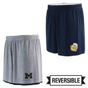 Valiant University of Michigan Navy/ Gray Reversible Shorts