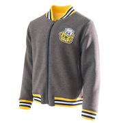 Valiant University of Michigan Gray College Vault Wolverine Full Zip Bomber Jacket
