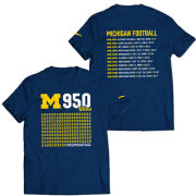 Valiant University of Michigan Football 950 Wins Front/Back Tee