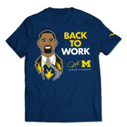 Valiant University of Michigan Basketball Head Coach Juwan Howard Navy Tee