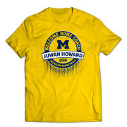 Valiant University of Michigan Basketball ''Welcome Home'' Juwan Howard Yellow Tee