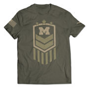 Valiant University of Michigan Football Drab Army Performance Tee