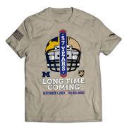 Valiant University of Michigan Football vs. Army Khaki ''Long Time Coming'' Tee