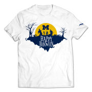Valiant University of Michigan White Halloween Zombies Tee
