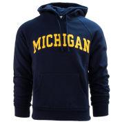 Valiant University of Michigan Navy Embroidered Twill Hooded Sweatshirt