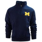 Valiant University of Michigan Navy 1/4 Zip Pullover Sweatshirt
