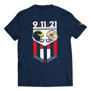 Valiant University of Michigan Football Navy Michigan vs. Washington Gameday 9/11 Remembrance Tee