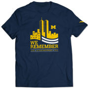 Valiant University of Michigan Navy 9/11 ''We Remember'' Tee
