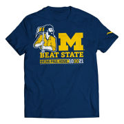 Valiant University of Michigan Football Navy 2021 ''Bring Paul Home'' Tee