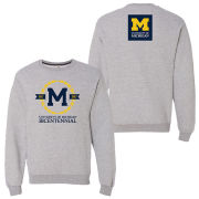 Valiant University of Michigan Bicentennial Gray Crewneck Sweatshirt