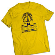 Valiant University of Michigan Basketball Big Ten Tournament Champions Yellow Tee