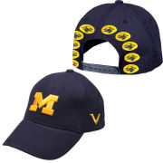 Valiant University of Michigan Football Navy Block ''M'' Helmet Sticker Snapback Slouch Hat