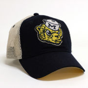 Valiant University of Michigan College Vault Wolverine Navy Meshback Snapback Slouch Hat