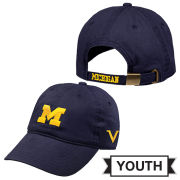 Valiant University of Michigan Youth Navy Block ''M'' Slouch Hat