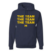 Valiant University of Michigan ''The Team, The Team, The Team'' Navy Hooded Sweatshirt
