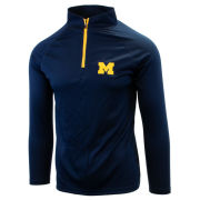 Valiant University of Michigan Navy Lightweight 1/4 Zip Pullover