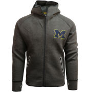 Valiant University of Michigan Dark Heather Gray Full Zip Performance Hooded Sweatshirt